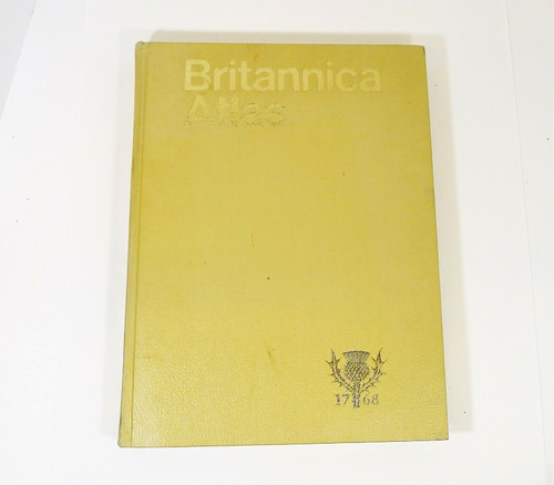 "Britannica Atlas Large Hardback Book by Rand McNally - 15"" T x 11"" W x 1.5"" D"