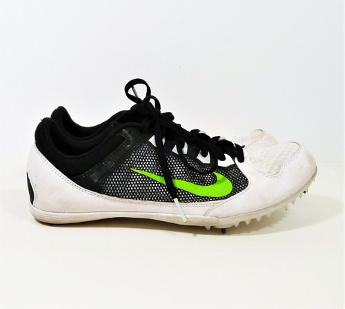 Nike Men's  White/Black/Green Zoom Rival MD 7 Sprint Running Shoes Size 9