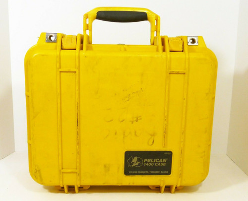 Pelican 1400 Hardshell Carry Case, Yellow, With Foam Padding