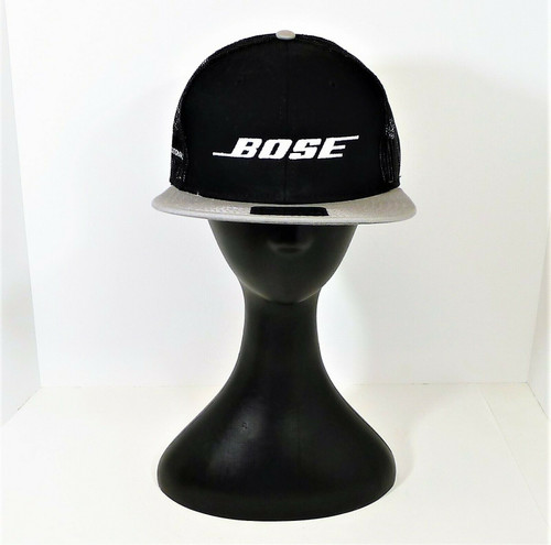 Otto Black Bose Snapback Trucker Cap Hat One Size Fits Most - NEW WITHOUT TAGS