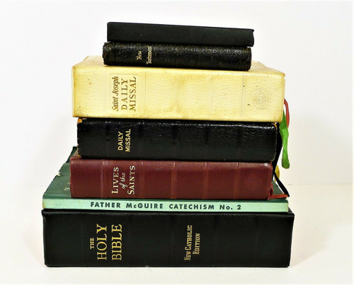 Lot of Vintage Books - New Catholic Edition Bible, Daily Missal's and More
