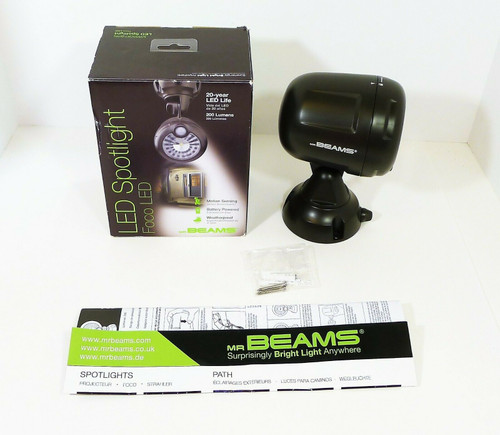 Mr. Beams Brown Security Spotlight Motion Sensing Battery LED - OPEN BOX