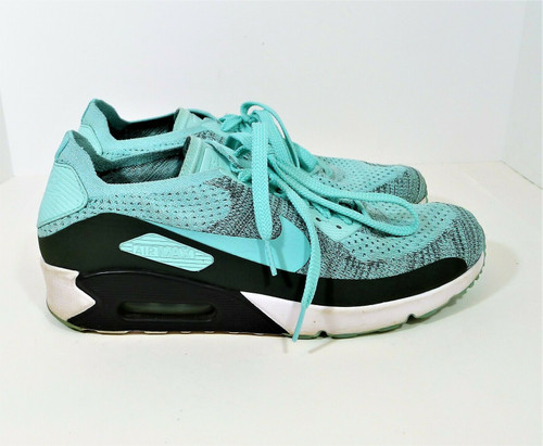 Nike Men's Hyper Turquoise Air Max 90 Ultra 2.0 Flyknit Size 10.5 - 875943-301