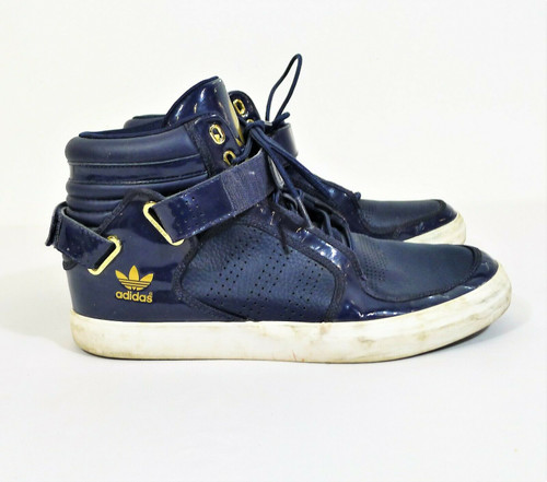 Adidas Men's Blue with Gold Adi-Rise Mid Ankle Strap Shoes G20517 Size 10.5