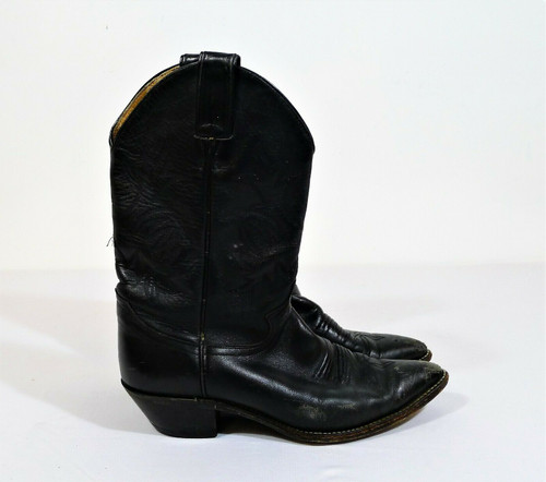 Justin Women's Black London Calf Western Boots Size 8.5 B - *SEE DESCRIPTION