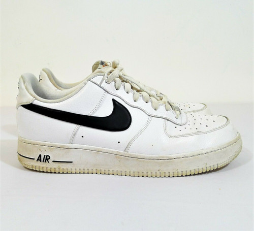 Nike Men's White Black 2015 Air Force 1 Low Shoes Size 10.5 - 488298-158