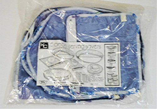 KC Products Blue with Floral Trim 6 Piece Serving Savers - NEW SEALED