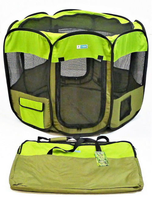 Guardian Gear Green Fabric Ex Pen with Insect Shield Medium Pets