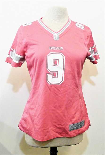 NFL on Field Players Women's Pink Cowboys #9 Romo Jersey Size Medium