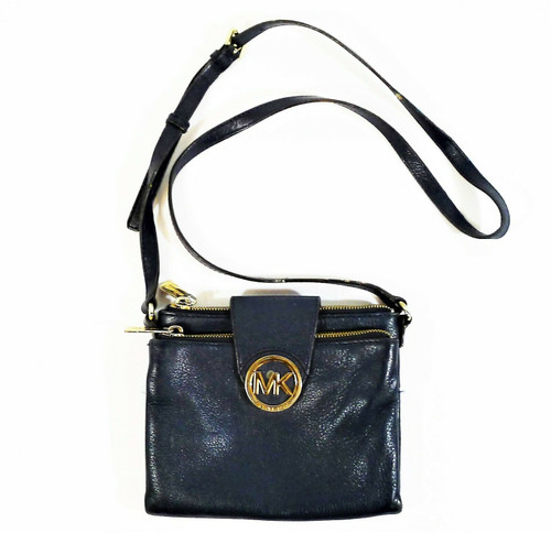 Michael Kors Dark Blue Leather Crossbody Purse