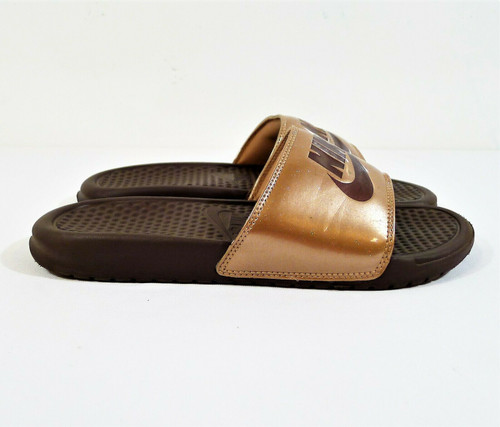 Nike Women's Rose Gold Slides Sandals Shoes Size 8