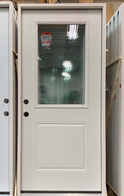 1/2 Lite Pre-Hung Panel Door No Blinds (Local Pkup)