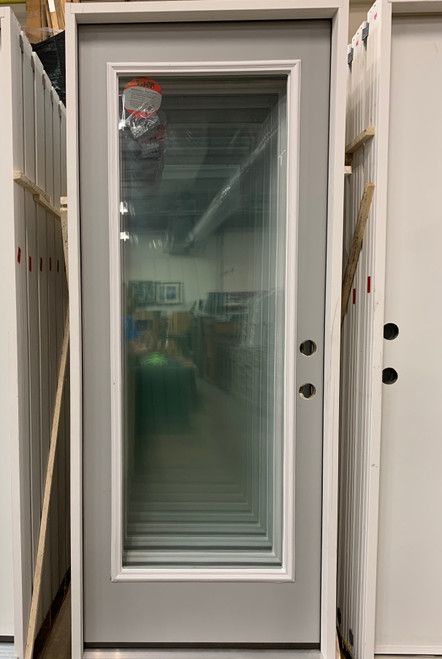 Full Lite Pre-Hung Panel Door No Blinds (Local Pkup)