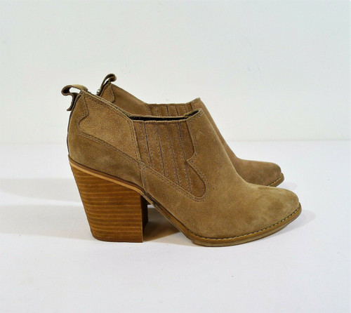 Chinese Laundry Women's Tan Suede Ankle Boots Size 8