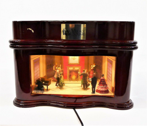 Mr. Christmas Village Square Symphonium Music Box Ballroom Scene NO POWER SUPPLY