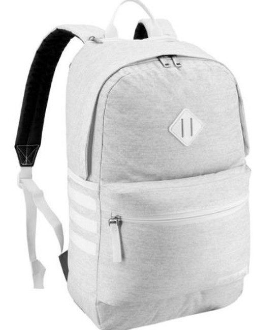 Adidas Gray/White Classic 3S III Laptop Backpack - NEW WITH TAGS