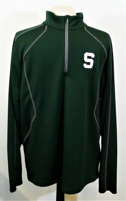 Under Armour Men's Green Pull Over Long Sleeve 1/4 Zip Shirt Size Large