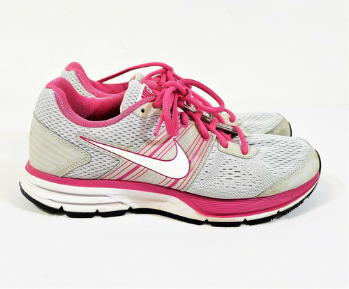 Nike Kids Platinum White and Pink Air Pegasus 29 GS Shoes Size 6Y - 525376-002