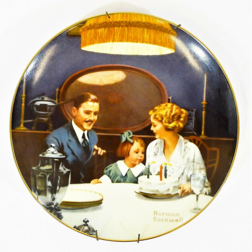 Edwin Knowles Rockwell's Light Campaign Collection My Birthday Wish Plate NO COA