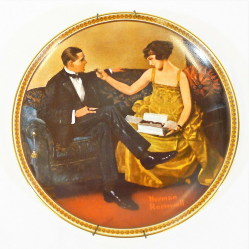 Edwin Knowles Rockwell's Rediscovered Women Flirting in the Parlor Plate *NO COA