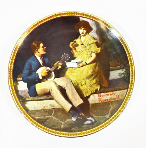 Edwin Knowles Rockwell's Rediscovered Women Pondering on the Porch Plate *NO COA
