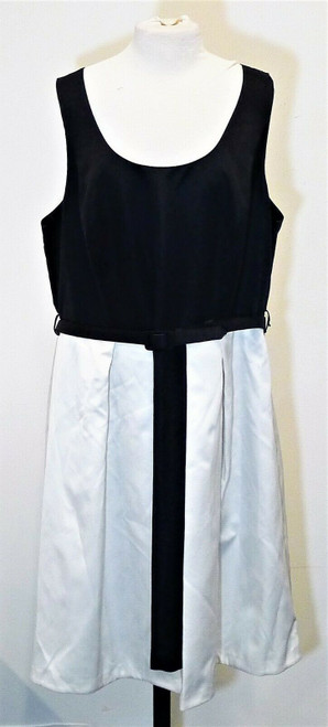 City Chic Women's Black/Ivory Hepburn Sleeveless Dress Size XL/22 -NEW WITH TAGS