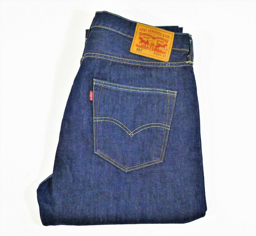 Levi Strauss & Co Men's 501 Button Fly Straight Leg Blue Jeans Size W34 L32