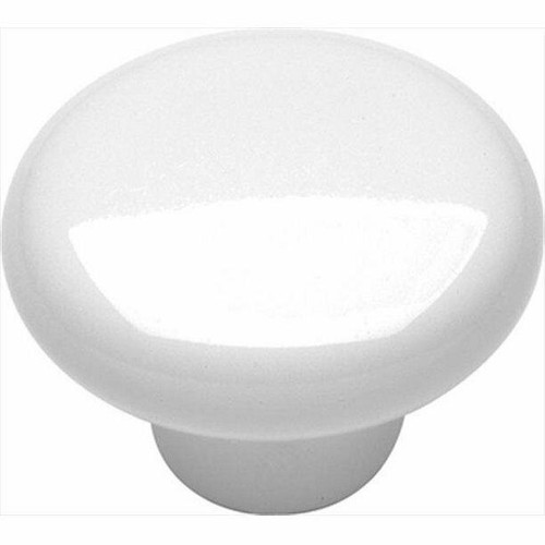"Set Of 25 Ultra Hardware 1.25"" Plastic White Drawer Knobs Pulls 25pcs - NEW"