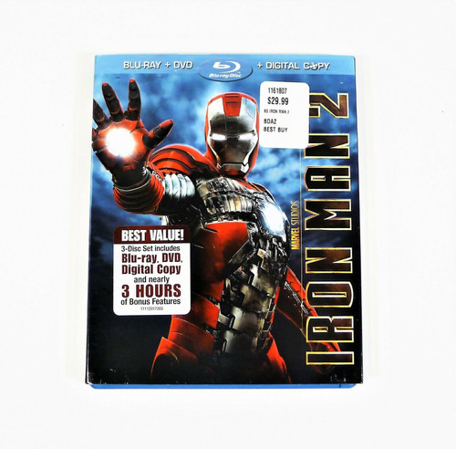 Iron Man 2 DVD and Blu-Ray Only - **NO DIGITAL CODE