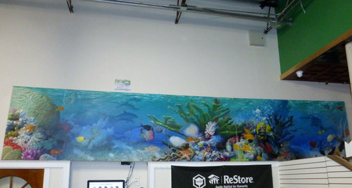 20-Foot Ocean Theme Canvas Mural Painting  LOCAL PICKUP ONLY, NO SHIP