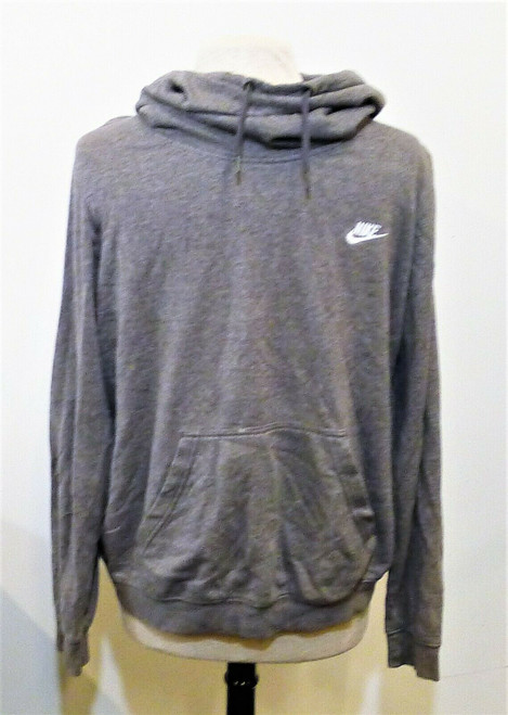 Nike Men's Gray Pull Over Funnel Neck Hoodie Size XL - **SEE DESCRIPTION