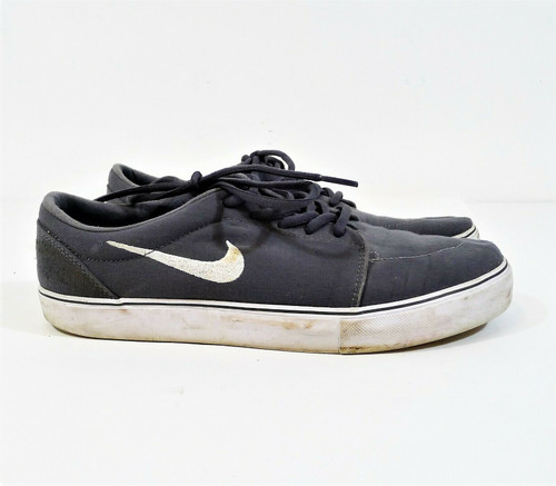 Nike Men's Gray Satire Canvas Skate Shoes Size 10.5 - 555380-010