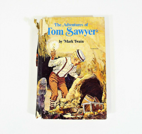 The Adventures of Tom Sawyer by Mark Twain Hardback Book  1971 *SEE DESCR.