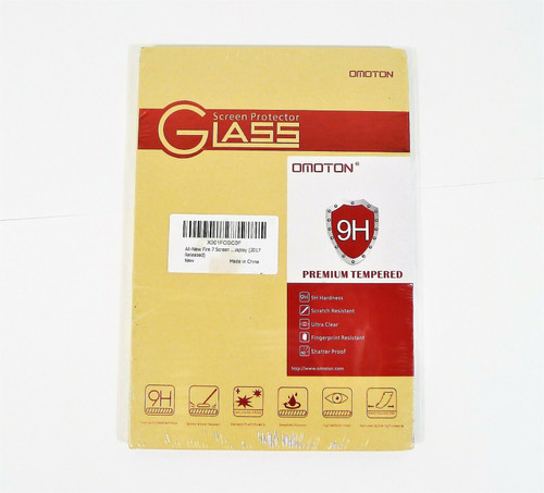 Omoton Glass Screen Protector for Fire 7 - NEW SEALED