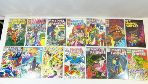 Marvel Fanfare Comic Book Set Issues 2 thru 15 (14 Comics Total)