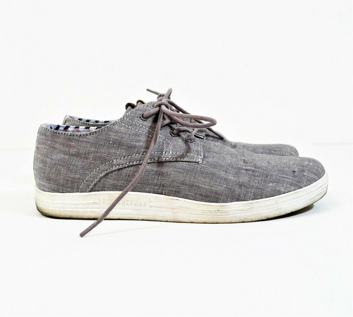 Ben Sherman Men's Gray Payton Casual Lace Up Oxford Shoes Size 8.5