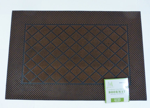 "Master Mat 16"" x 24"" Indoor/Outdoor Rubber Pin Doormat - Bronze  NEW"