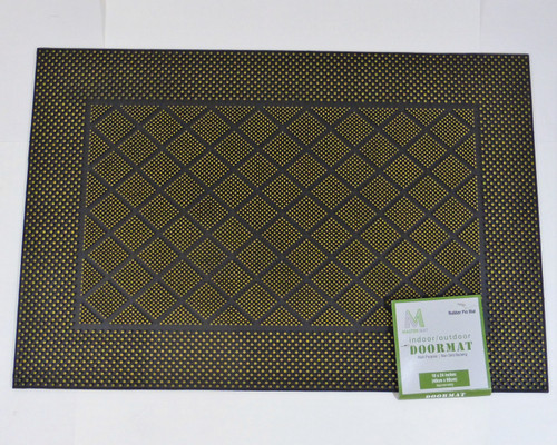 "Master Mat 16"" x 24"" Indoor/Outdoor Rubber Pin Doormat - Gold NEW"