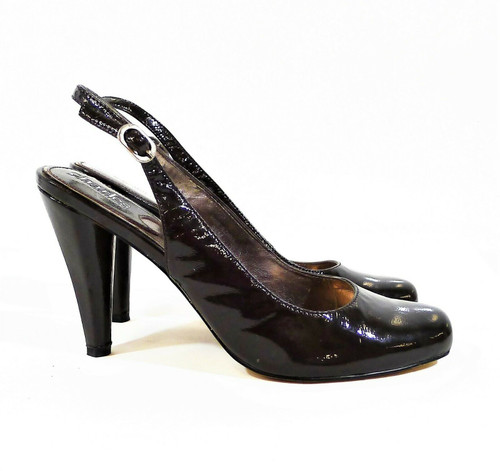 Charles by Charles David Dark Brown Patent Slingback Heels Size 9.5
