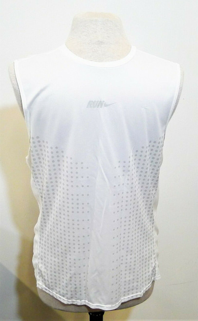Nike Men's White/Gray Dots Sleeveless Dri-Fit Tank Top Shirt Size M - *SEE DESCR
