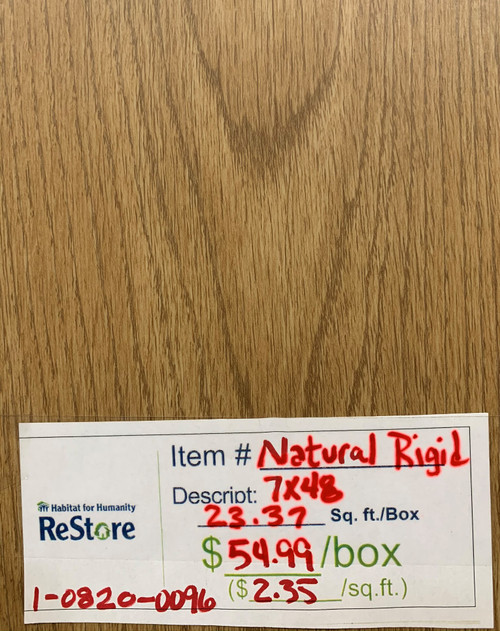 "NATURAL RIGID 7"" X 48"" SPC FLOORING (Local Pickup Item)"
