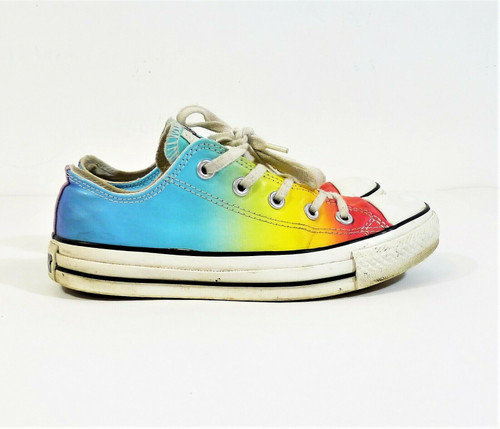 Converse Unisex Blue/Yellow/Red Chuck Taylor All Star Shoes Men's 4 Women's 6
