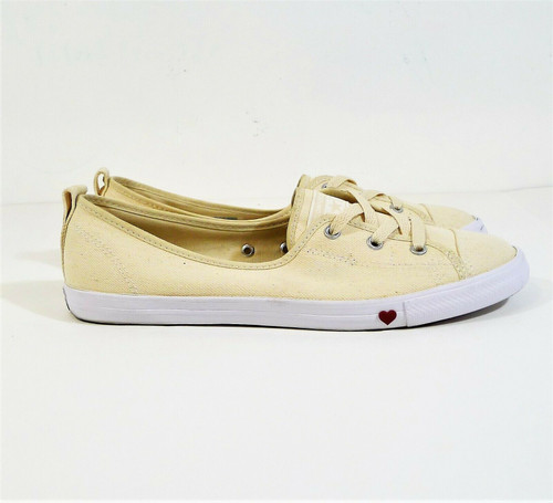 Converse Women's Natural Ivory Chuck Taylor All Star Ballet Lace Shoes Size 11