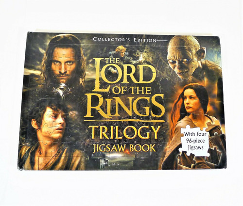 The Lord of the Rings Trilogy Jigsaw Hardback Book with 4 96- Piece Jigsaws