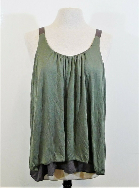 Anthropologie Amadi Women's Moss/Gray Melissa Tunic Tank Top Shirt Size L - NWT