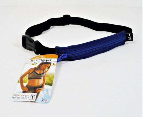 SpiBelt Flex Blue/Black Running Gym Belt
