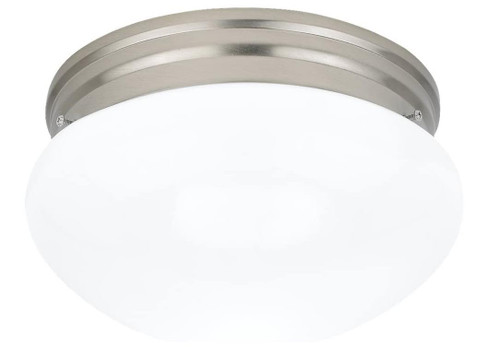 Generation Lighting Two-Light Flush-Mount Ceiling Fixture in Nickel - OPEN BOX