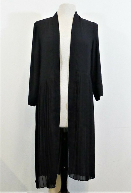 Jennie and Marlis Women's 3/4 Sleeve Open Front Long Cardigan Size S-NEW W/ TAGS