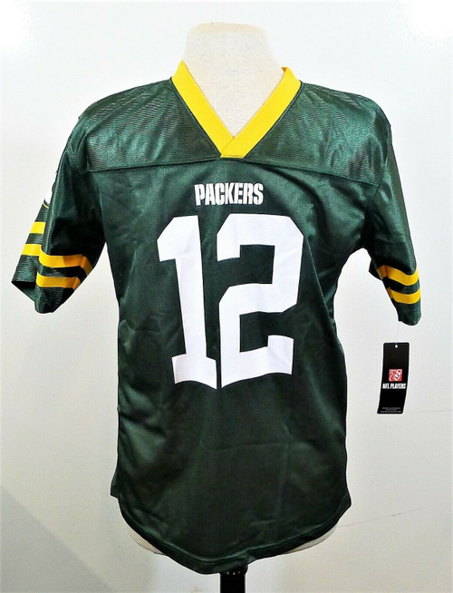 NFL Team Apparel Youth Green Bay Packers #12 Rodgers Jersey Size XLarge 16/18