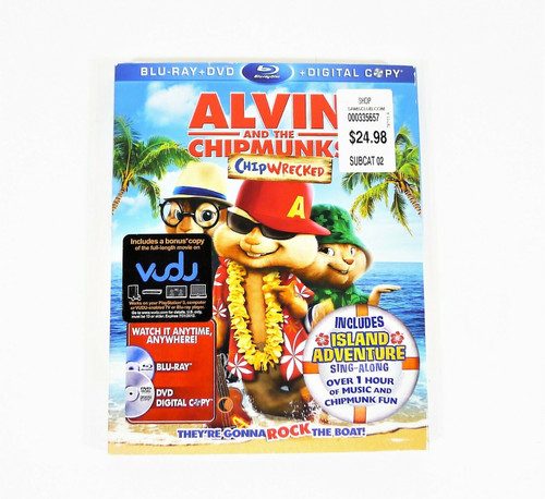Alvin and the Chipmunks Chipwrecked Blu-Ray DVD + Digital Copy - NEW SEALED